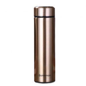 Thông tin sản phẩm: Chất liệu: Bình giữ nhiệt Bonnman được làm bằng inox 304 cho cả 2 lớp bên trong và bên ngoài nên rất an toàn cho sức khỏe người dùng Công nghệ: Bình giữ nhệt được sản xuất theo công nghệ cách nhiệt chân không. Bình gồm 2 lớp inox bên trong và bên ngoài với lớp ở giữa được hút chân không nên giúp giữ nóng và lạnh đến hơn 12h Kiểu dáng: Sản phẩm được thiết kế đơn giản, sang trọng và tiện dụng với nắp đậy kín, thuận tiện mang theo bên người khi đi làm, đi học hay dã ngoại Sản Xuất: Theo công nghệ của Cộng hòa liên bang Đức