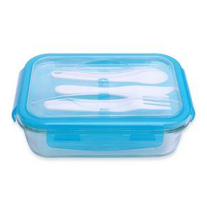 Chất liệu : thủy tinh Borosilicate  Loại to:  Kích thước: 203 x 144 x 64 (mm)  Dung tích: 1010 (ml)  Loại nhỏ:  Kích thước: 183 x 125 x 59 (mm)  Dung tích: 700 (ml)