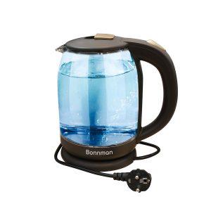 Mã sản phẩm: BM-3226Dung tích: 1,8 lítChất liệu: Thủy tinh chịu nhiệt trong suốtCông suất: 1850 -2200WNguồn điện áp: 200V/50HzTrọng lượng sản phẩm: 1,3KgĐế xoay 360 độTay cầm bằng nhựa có tích hợp công tắc bật/tắt ấmTự động ngắt điện khi sôi và khi ấm cạn nướcTích hợp đèn LED xanh lạ mắtBảo hành 12 tháng